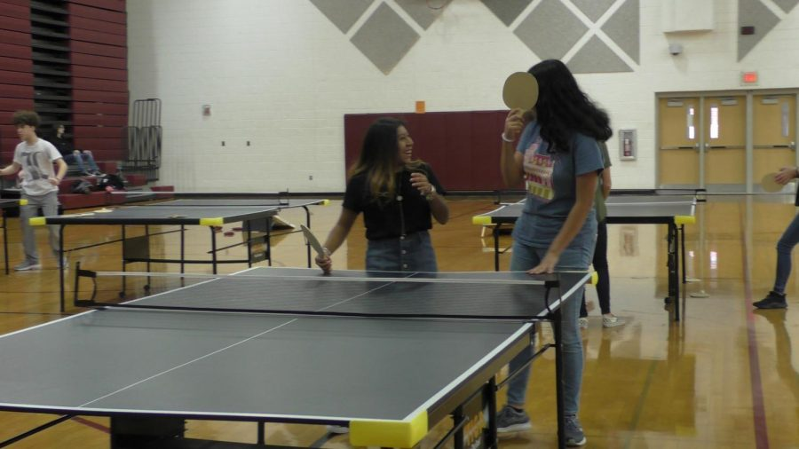 Ping Pong Genius Hour hosted in the large gym.